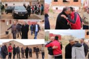 الكاتب العام لعمالة الناظور يحل بمدينة زايو لنقل تعازي صاحب الجلالة لأسرة الضحية