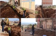 تتبع ومعاينة أشغال مشروع تزويد الأحياء غير المزودة بالماء الصالح للشرب بزايو