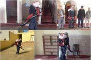 جماعة زايو تعقم المساجد تجنبا لانتشار فيروس