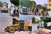 تتواصل جهود جماعة زايو للحفاظ على نظافة المدينة