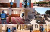 استعدادا لصلاة الجمعة .. جماعة زايو تقوم بعملية واسعة لتعقيم وتطهير مساجد المدينة