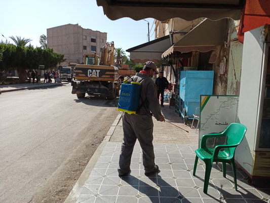جماعة زايو تواصل عمليات التعقيم و التطهير