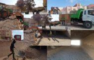 جهود متواصلة ومكثفة لجماعة زايو لتنقية الأودية للوقاية من خطر الفيضانات