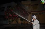 بالصور : عملية رش المبيدات المضادة لحشرة البعوض ( الناموس) بحي الأمـــــــــــل