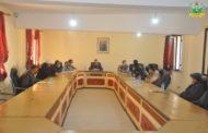اجتماع حول تتبع أشغال التطهير السائل لمدينة زايو