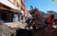 إستمرار أشغال تجديد قنوات الصرف الصحي  بشارع أثينا