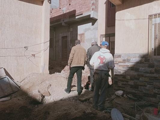 معاينة الأشغال الجارية بحي سيدي عثمان المتعلقة بتهيئة شبكة الصرف الصحي