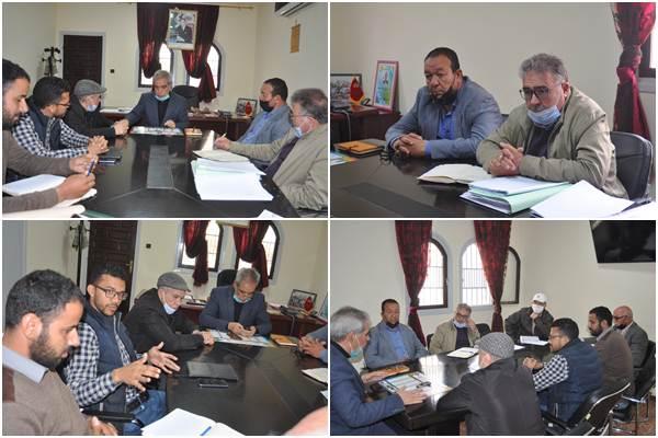 إجتماع بخصوص إعطاء إنطلاقة أشغال التأهيل الحضري للأحياء الناقصة التجهيز بمدينة زايو