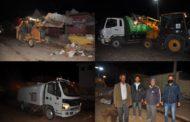 جماعة زايو تقوم بحملة نظافة واسعة بالشوارع المحيطة بالمركب التجاري للخضر والفواكه
