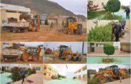 جماعة زايو تنظم حملة نظافة واسعة بثانوية زايو التأهيلية استعداد لإمتحانات الباكالوريا ( صور )