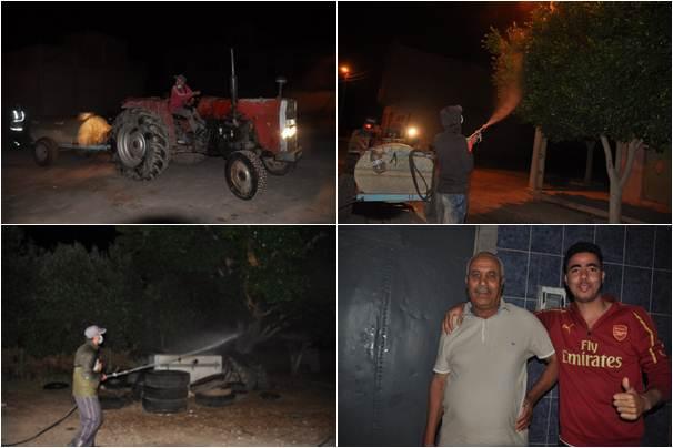 جماعة زايو تقود حملة لرش المبيدات من أجل محاربة الناموس بحي سوكرافور وحي الوحدة والسكان يستحسنون التدخل