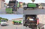 صور لعمليات تنظيف أحياء مدينة زايو من بقايا وأشلاء الأضاحي